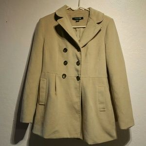 Pea coat tan beige from forever 21